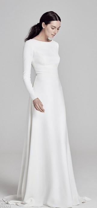 Vestido de novia de mangas largas