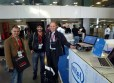 Rover making friends at Mobile World Congress.
