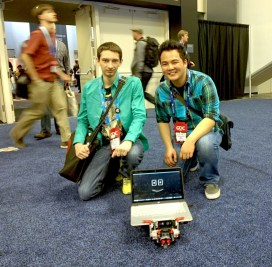 Rover makes new friends at GDC.