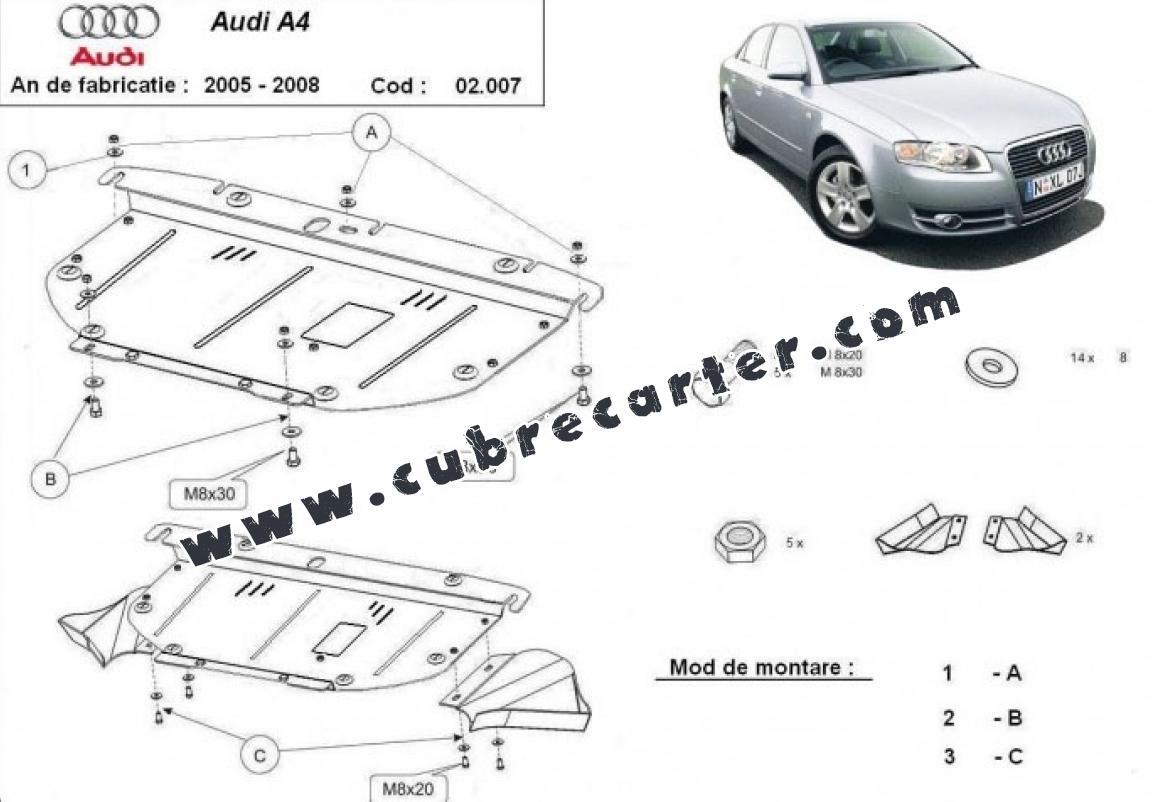 Cubre carter metalico Audi A4 3
