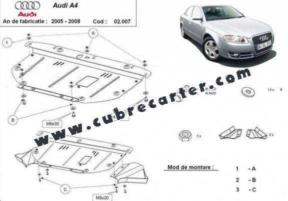 Protección del caja de cambios manuale Audi A4 3