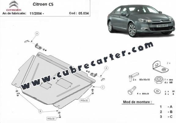 Cubre carter metalico Citroen C5