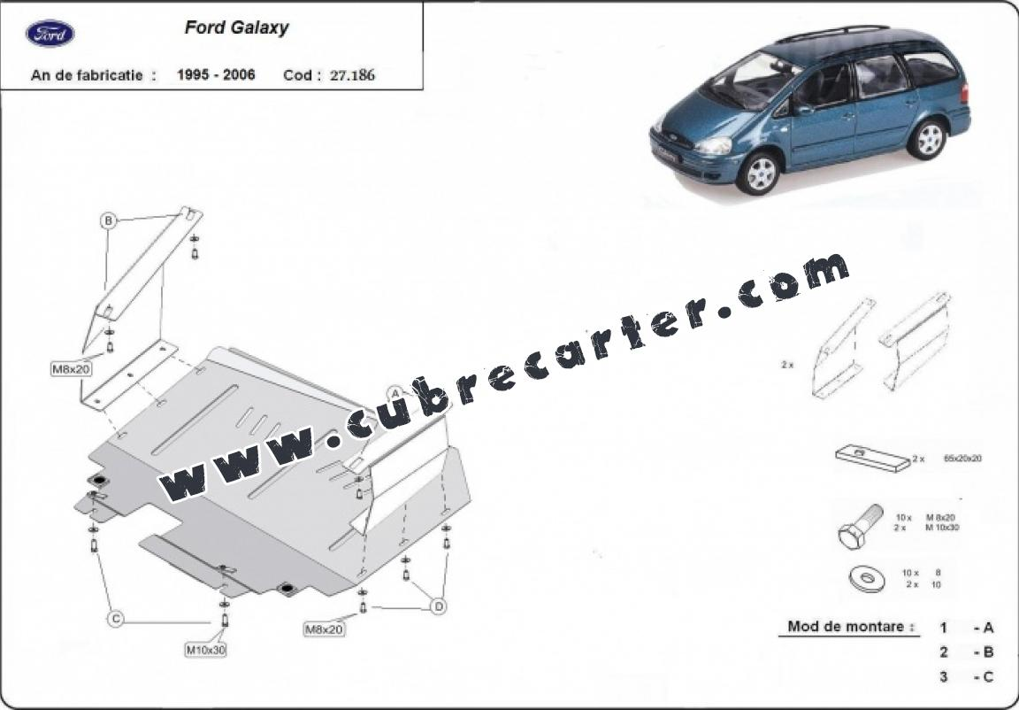 Cubre carter metalico Ford Galaxy 1