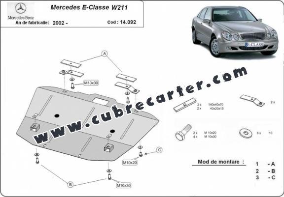 Protección del caja de cambios Mercedes E-Clasee W211