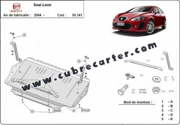 Cubre carter metalico Seat Leon 2