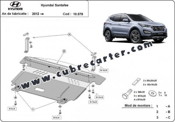 Cubre carter metalico Hyundai Santa Fe