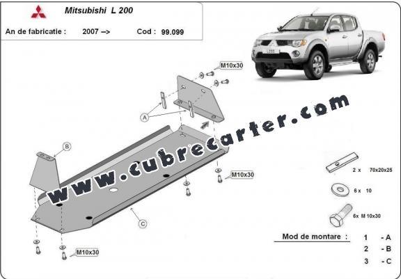 Protección del depósito de combustible Mitsubishi L 200