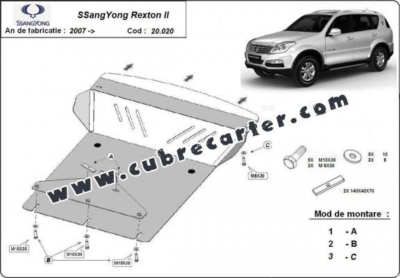 Cubre carter metalico SsangYong Rexton 2
