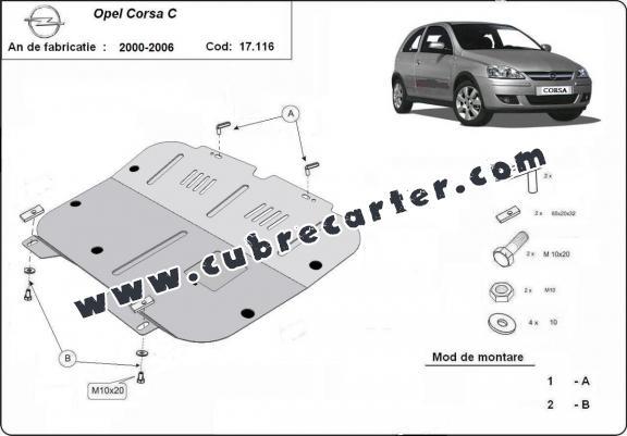 Cubre carter metalico Opel Corsa C