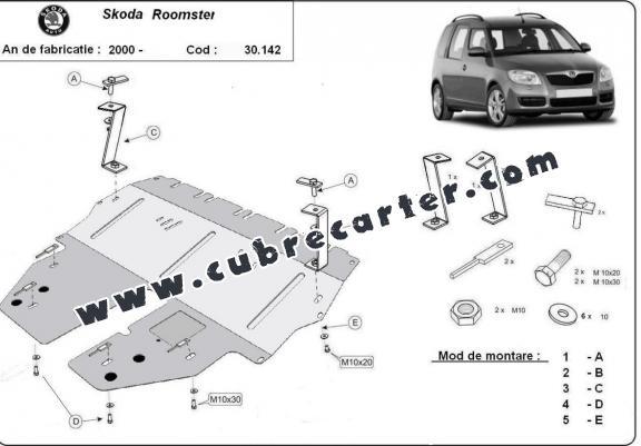 Cubre carter metalico Skoda Roomster