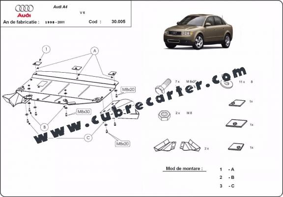 Cubre carter metalico Audi A4 1