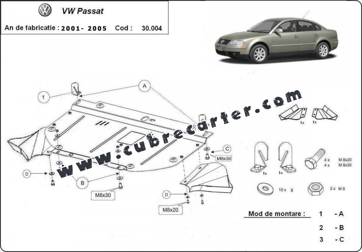 Cubre carter metalico VW Passat