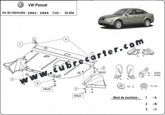 Protección del caja de cambios manuale VW Passat