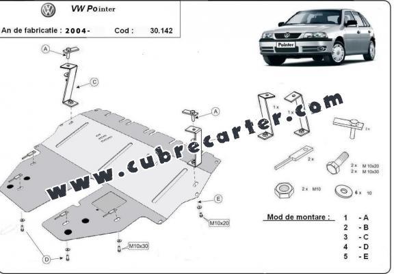Cubre carter metalico Volkswagen Pointer