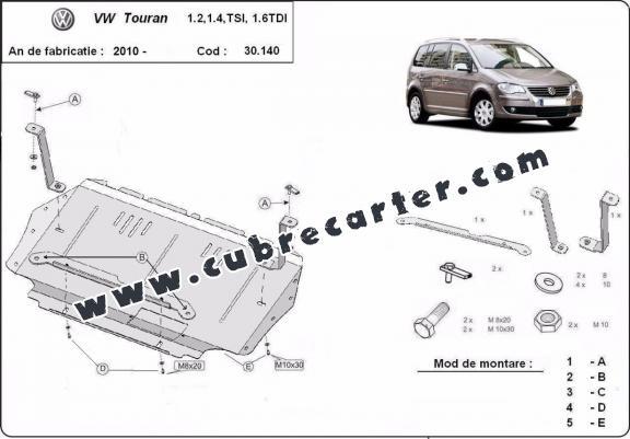 Cubre carter metalico Volkswagen Touran