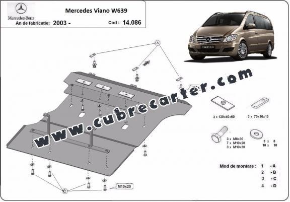 Cubre carter metalico Mercedes Viano W639