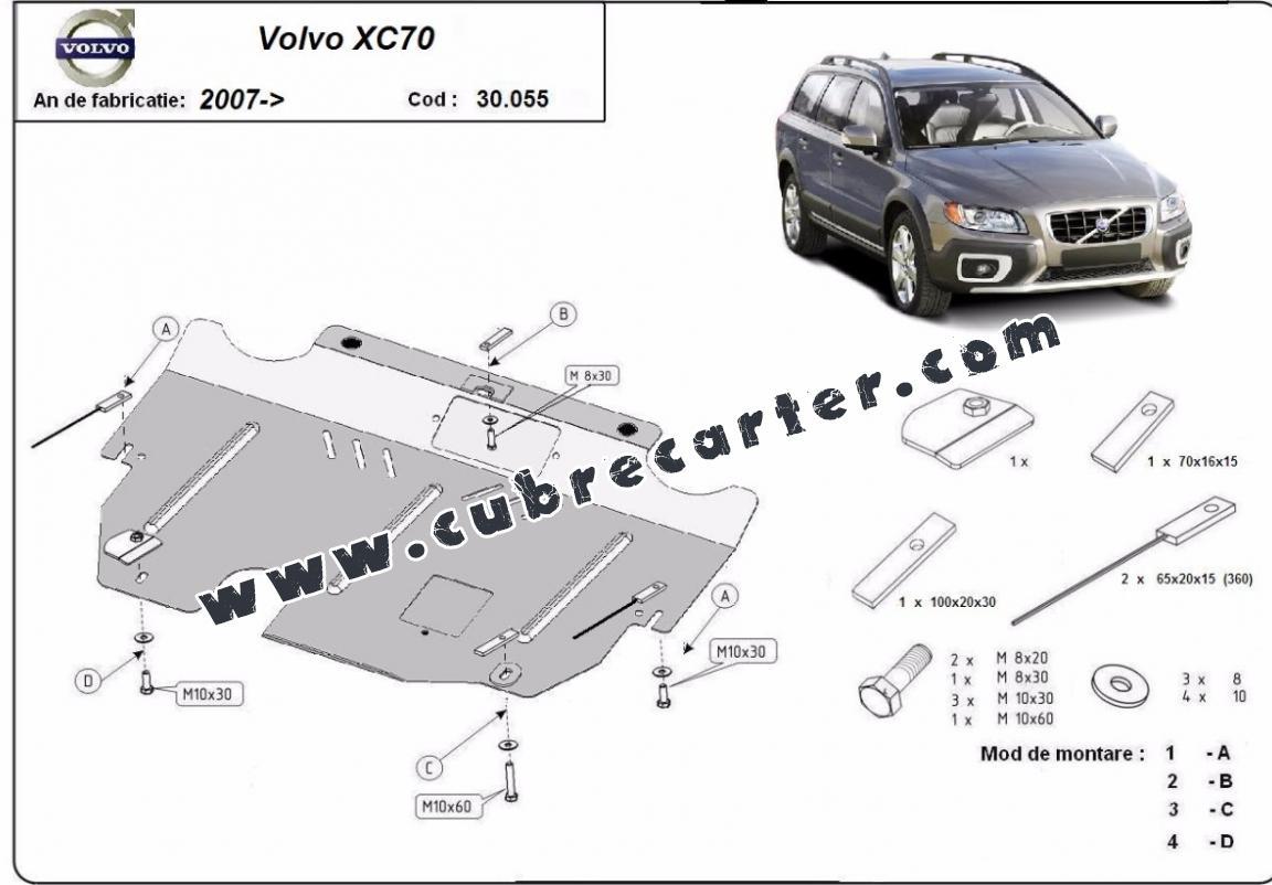 Cubre carter metalico Volvo XC70