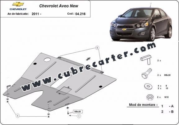 Cubre carter metalico Chevrolet Aveo