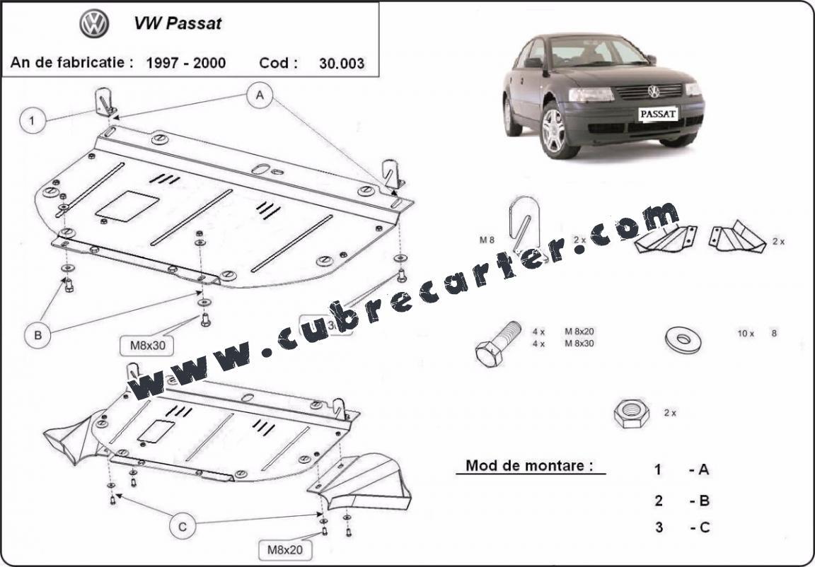 Cubre carter metalico VW Passat B5