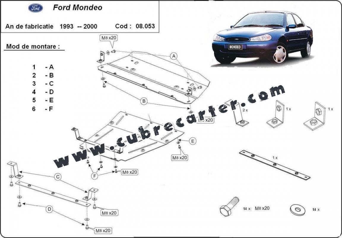 Cubre carter metalico Ford Mondeo 1,2