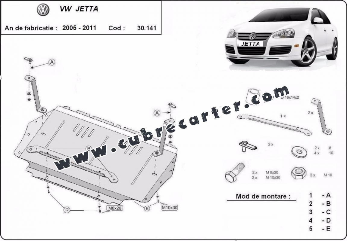 Cubre carter metalico VW Jetta