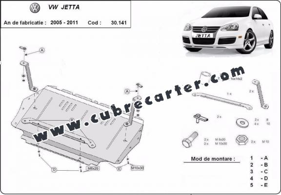 Cubre carter metalico VW Jetta