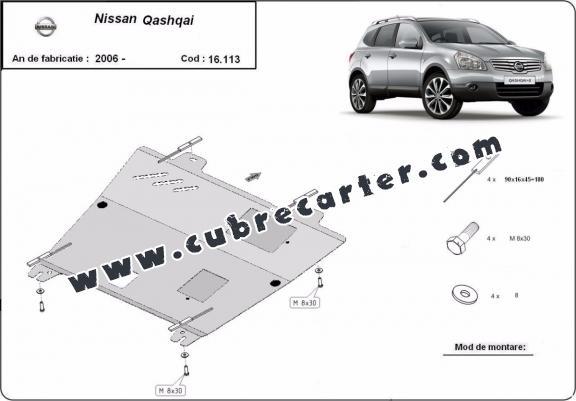 Cubre carter metalico Nissan Qashqai