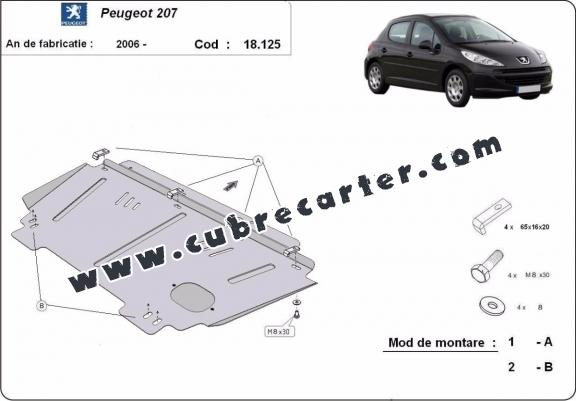 Cubre carter metalico Peugeot 207