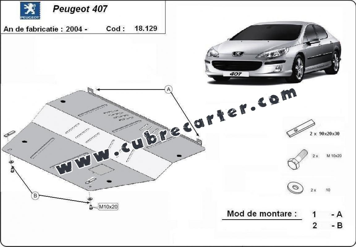 Cubre carter metalico Peugeot 407