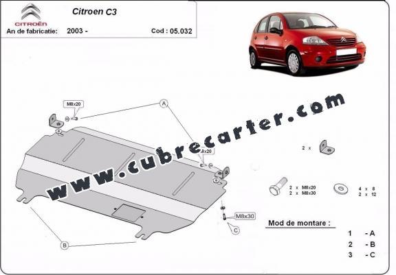 Cubre carter metalico Citroen C3