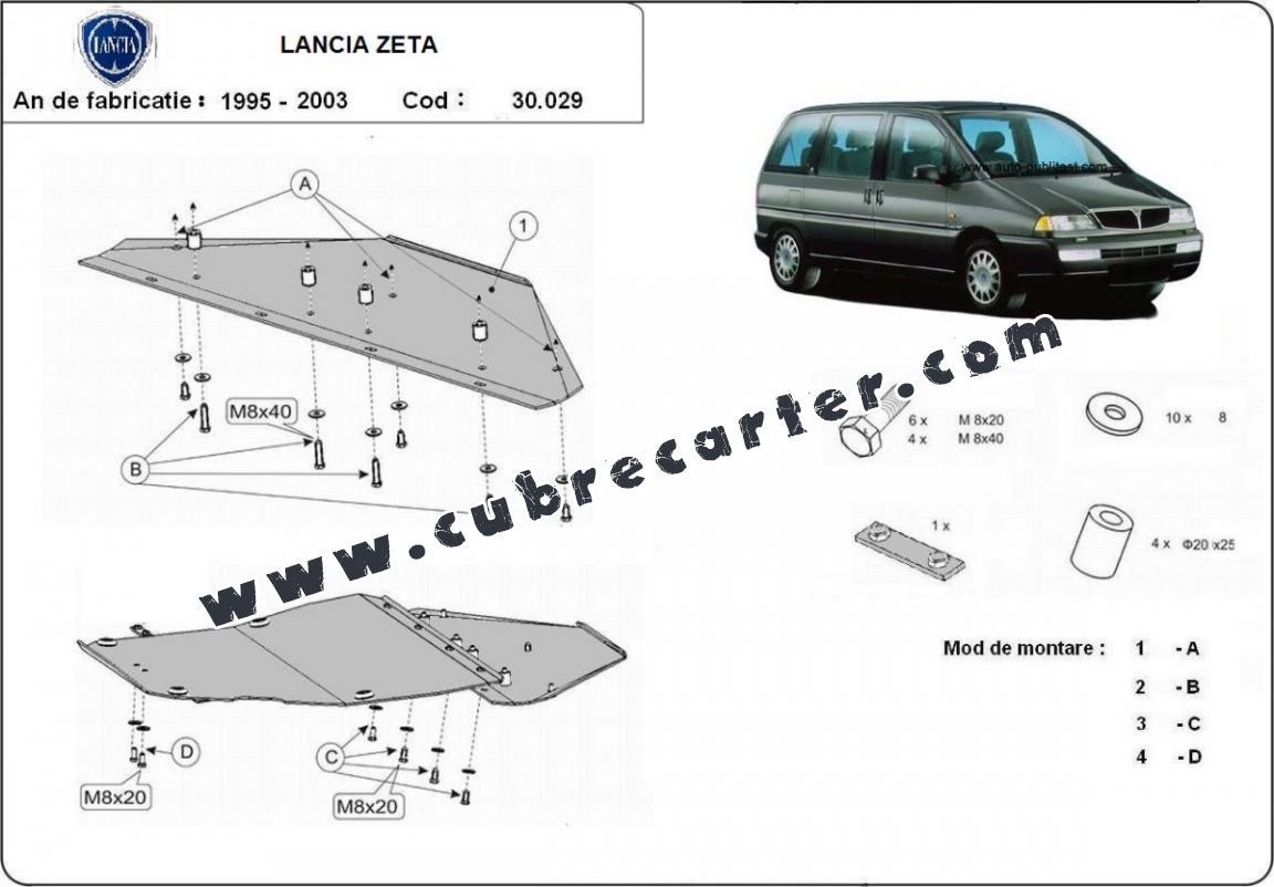 Cubre carter metalico Lancia Zeta