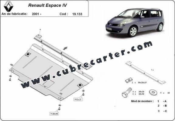 Cubre carter metalico Renault Espace 4