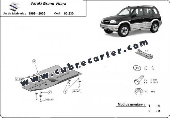 Protección del caja de cambios Suzuki Grand Vitara