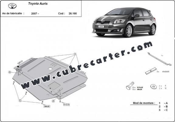 Cubre carter metalico Toyota Auris