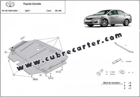 Cubre carter metalico Toyota Corolla