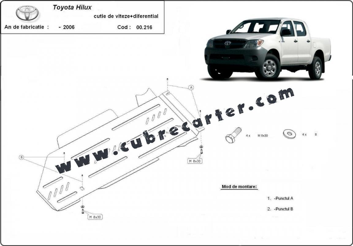 Protección de caja de cambios y diferencial Toyota Hilux