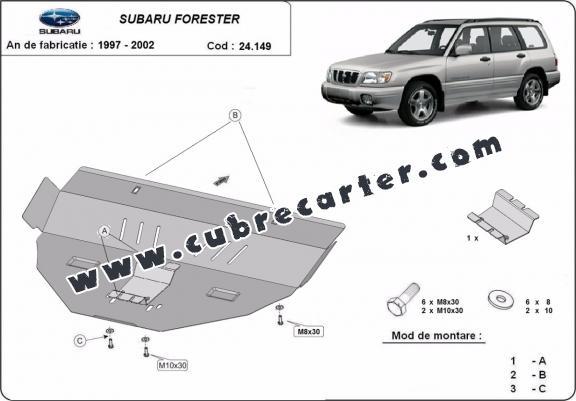 Cubre carter metalico Subaru Forester 1