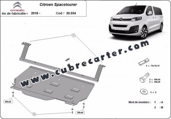 Cubre carter metalico Citroen Spacetourer