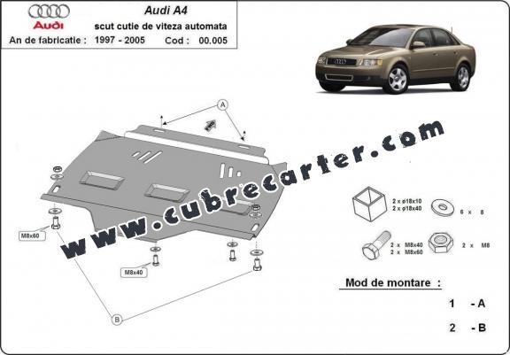 Protección del caja de cambios Audi A4 2