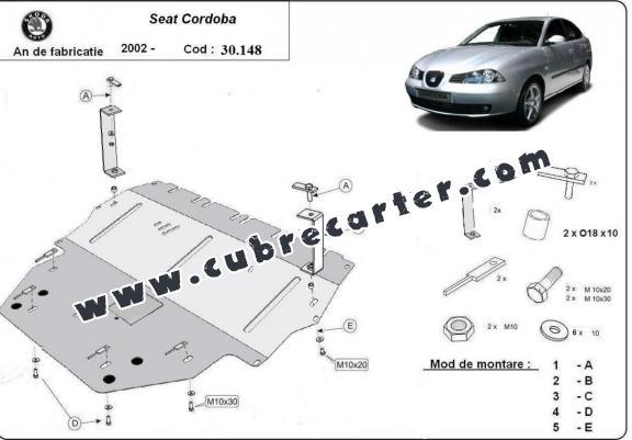 Cubre carter metalico Seat Cordoba Diesel