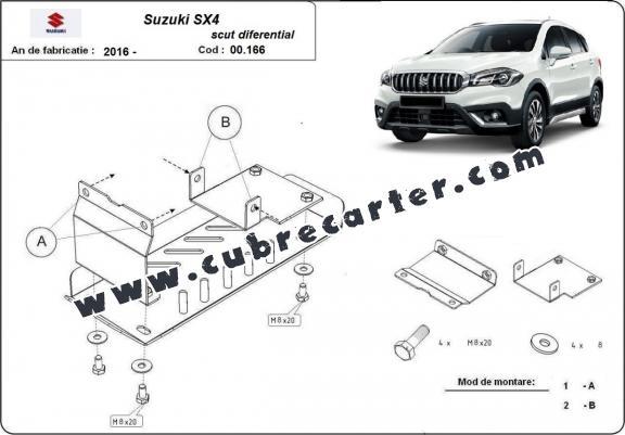 Protección del diferencial trasero Suzuki SX4