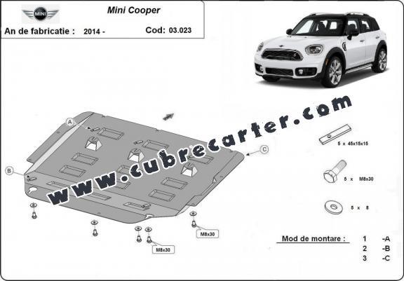 Cubre carter metalico Mini Cooper
