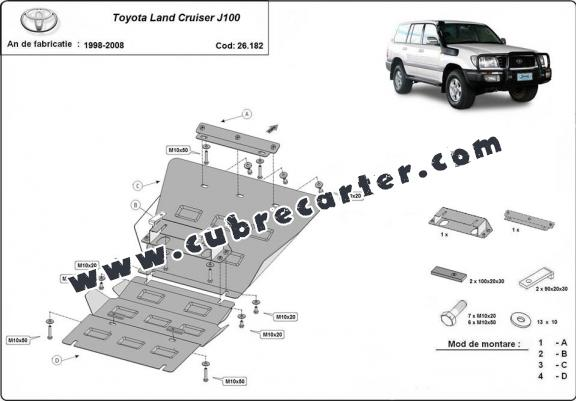 Cubre carter metalico Toyota Land Cruiser J100