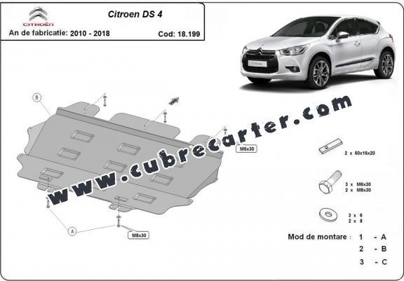 Cubre carter metalico Citroen DS4