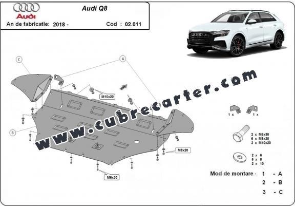 Cubre carter metalico Audi Q8