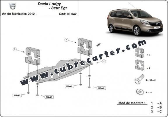 Cubre metálico para el sistema Stop & Go, EGR Dacia Lodgy