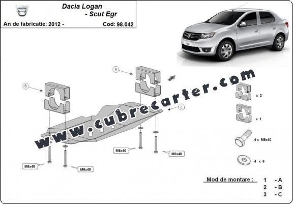 Cubre metálico para el sistema Stop & Go, EGR Dacia Logan 2