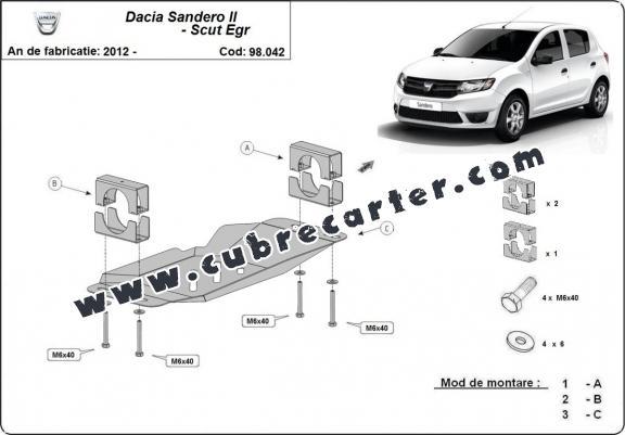 Cubre metálico para el sistema Stop & Go, EGR Dacia Sandero