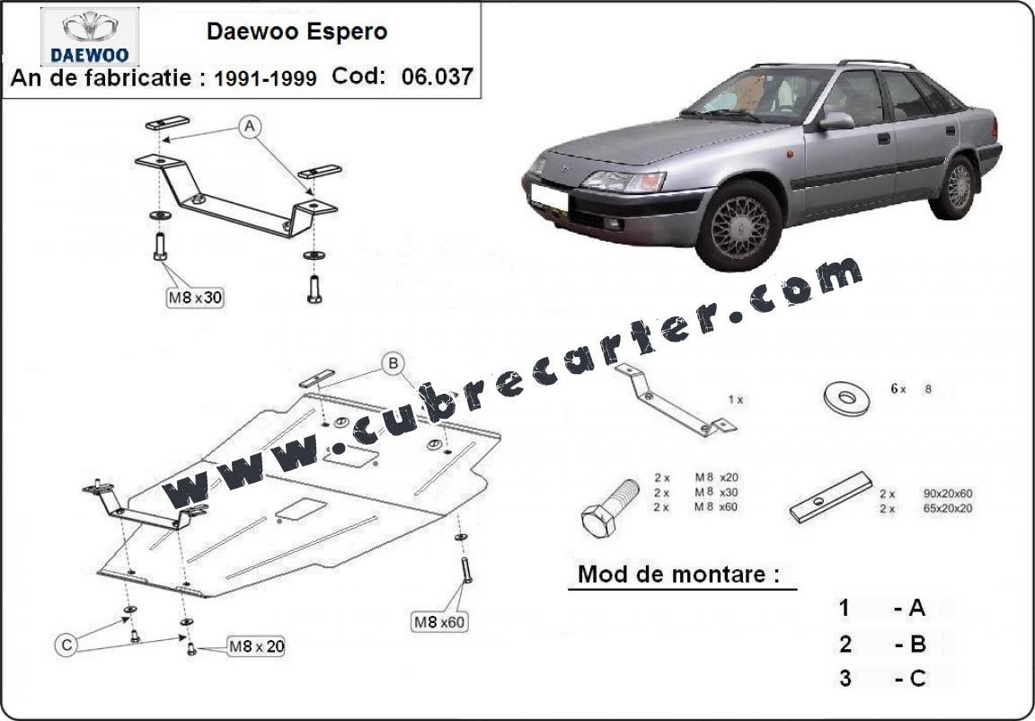 Cubre carter metalico Daewoo Espero