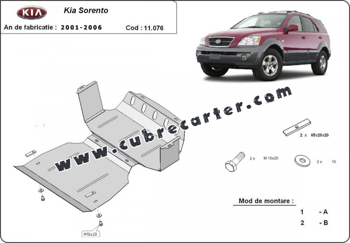 Cubre carter metalico Kia Sorento